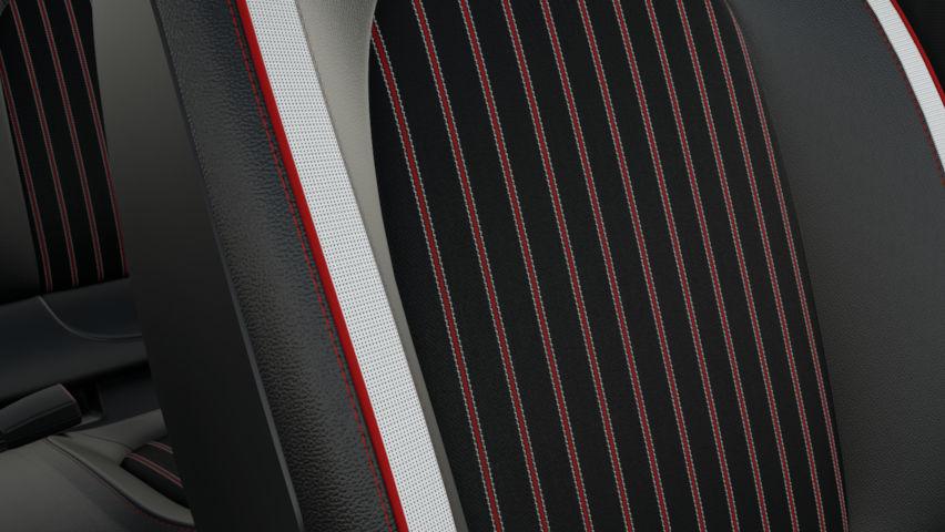 Sellerie mixte TEP / tissu Rouge (avec personnalisation)