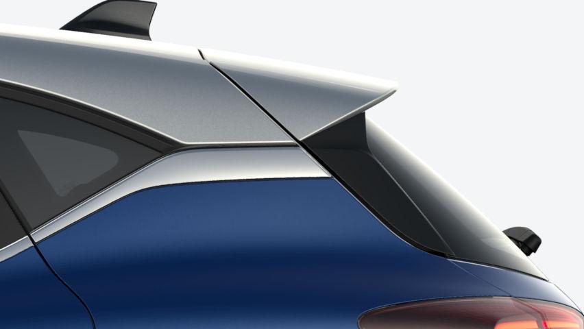 Bleu Iron / toit Gris Highland